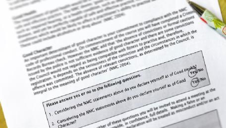signing onto the nursing register