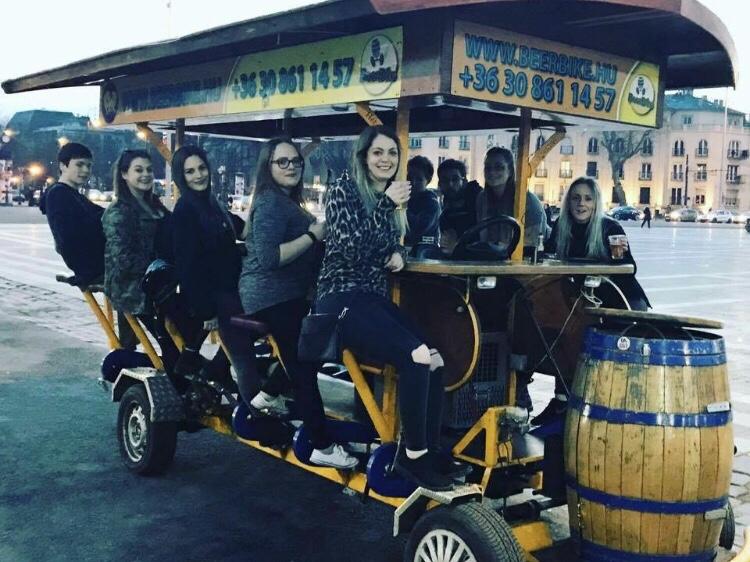 beer bike in budapest