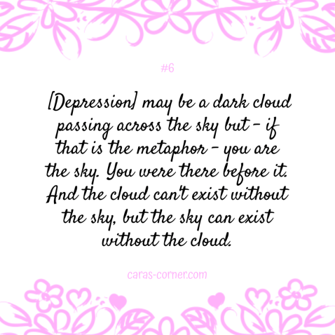 Matt Haig quote  - mental health recovery quote