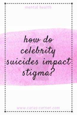 How do celebrity suicides impact mental health stigma