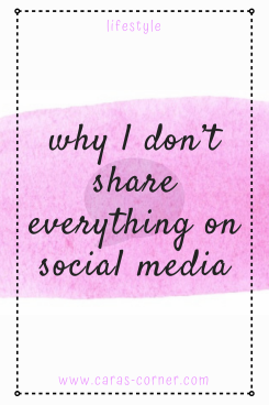 Why it's okay not to share everything on social media