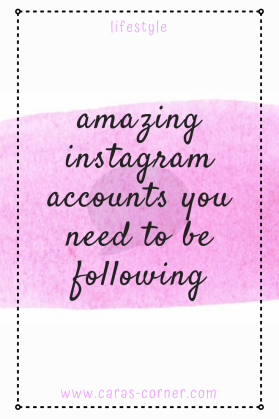 Amazing instagram accounts you need to be following
