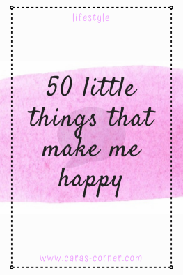 50 little things that make me happy