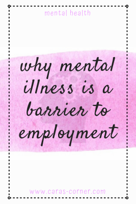 Why mental illness is a barrier to employment