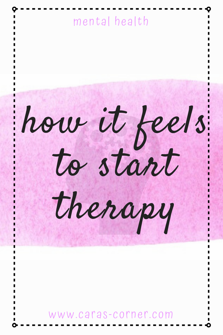 How does it feel to start therapy?