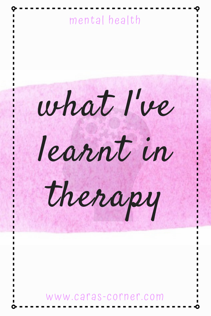 How it feels to finish therapy and what I learnt from the experience