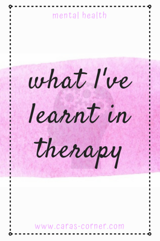 What I've learnt in therapy